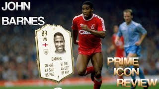 OMG! YOU MUST GET 89 PRIME BARNES FROM ICON SWAPS| JOHN BARNES FIFA 20 ULTIMATE TEAM PLAYER REVIEW