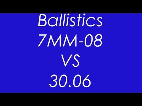 7MM-08 VS 30-06 - Ballistics Compared
