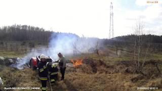 Pożar ciągnika w Stefankowie