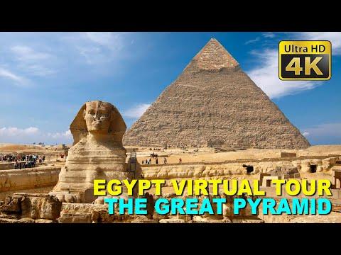Virtual Tour Egypt - Great Pyramid of Giza - 4K Stock Footage