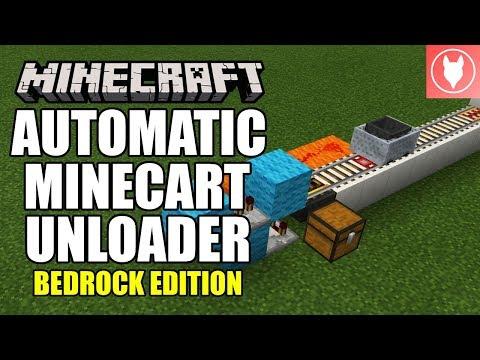 Minecraft Bedrock - Automatic Minecart Unloader Tutorial ( Xbox / MCPE / Windows 10 )