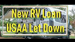 New RV Loan USAA Let Down