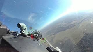 A flight on L-29 Dolphin. 360 video