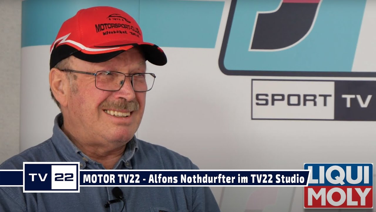 MOTOR TV22 - Alfons Nothdurfter, Veranstalter Tiroler Meisterschaft Autoslalom,  im TV22 Studio