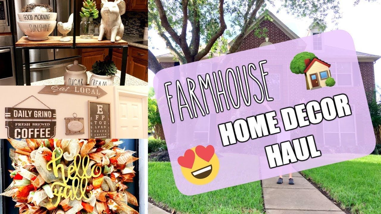 home decor haul farmhouse decor   youtube