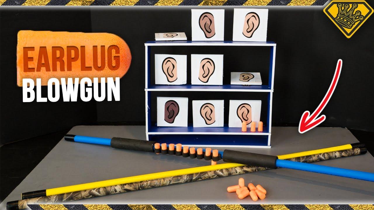 Plug Popper Earplug Blowgun