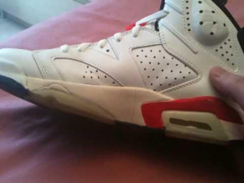 6b6226d86ae2c4 Nike air jordan 6 OG 1990 white infrared - YouTube