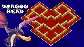 """Clash of Clans   Town Hall 5   Clan War Base   Trophy Base   """"DragonHead""""   TH5 TH 5"""