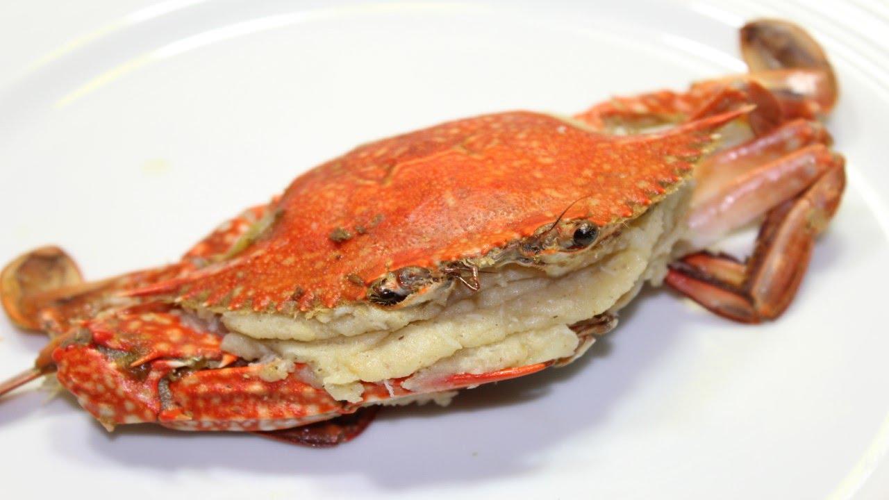 طريقة عمل الكابوريا المخلية و المحشية بخليط مميز من لحم الكابوريا و البطاطس - Stuffed Crab