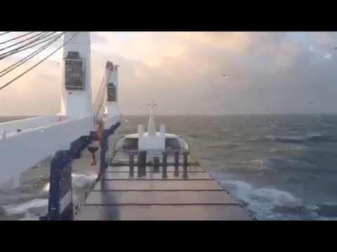 MV UAL Bodewes sailing in Storm Force 10