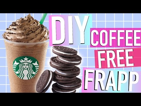 DIY STARBUCKS OREO FRAPPUCCINO ♡ Coffee-Free!