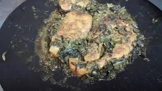 Salmon fish with spinach