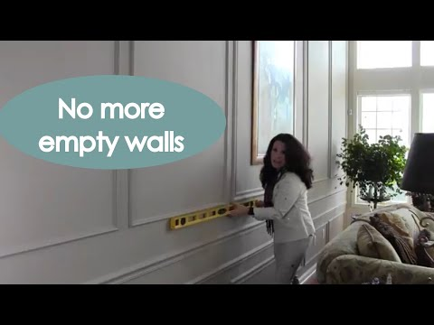 Decorating Large Walls With Panel Moulding (tips) - Renee Romeo
