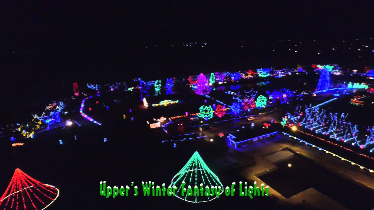 Upper Sandusky's Winter Fantasy of Lights - Aerial Footage - 2015 ...