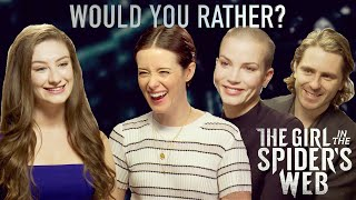 Would You Rather? | The Girl In The Spiders Web Cast | Amber Doig-Thorne Interview