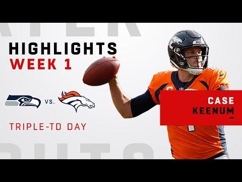 Case Keenum's 329-Yards & 3-TD Day in Denver Debut