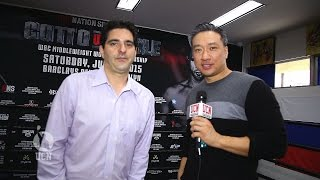 Steve Kim interviews David Itzkowitz at Miguel Cotto workout - UCN Exclusive