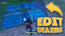 How to EDIT STAIRS in Fortnite Battle Royale (Rotate, Handrails, Spiral Stairecase)