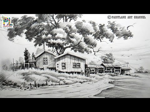 how-to-draw-and-shade-a-scenery-drawing-with-pencil- -easy-pencil-art