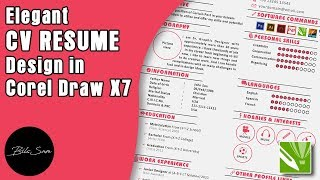 Elegant CV Resume Design in Corel Draw X7