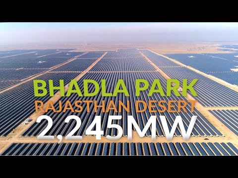 World's largest solar power plant in India (Bhadla Solar Par