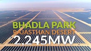 World's largest solar power plant in India (Bhadla Solar Park, Rajasthan)    India Guru Solar   