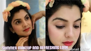 Summer makeup/summer natural refreshing look/summer glowing makeup/makeup tutorial