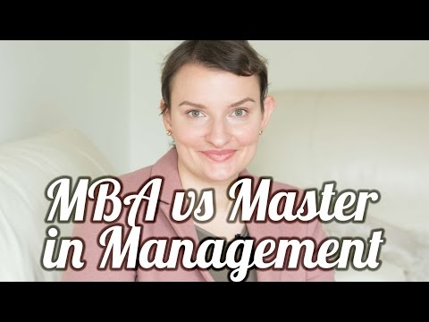 MBA vs Masters in Management