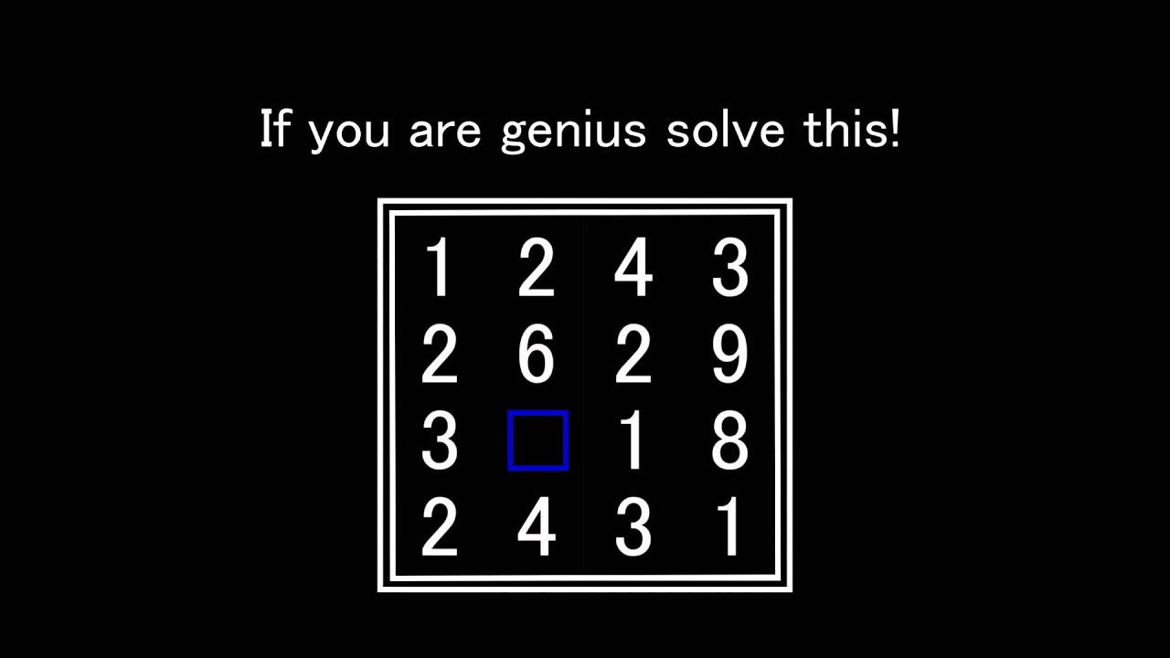 if you are genius solve this #13 - YouTube