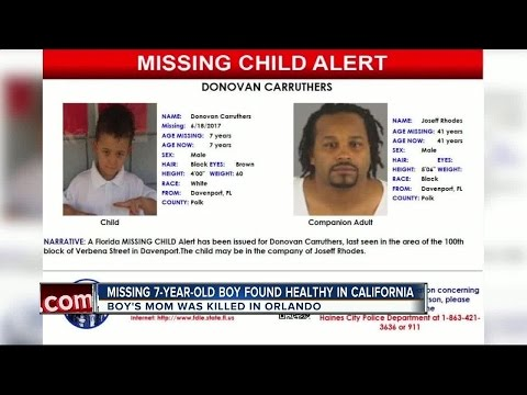 Missing 7-year-old boy from Davenport found safe in California - YouTube