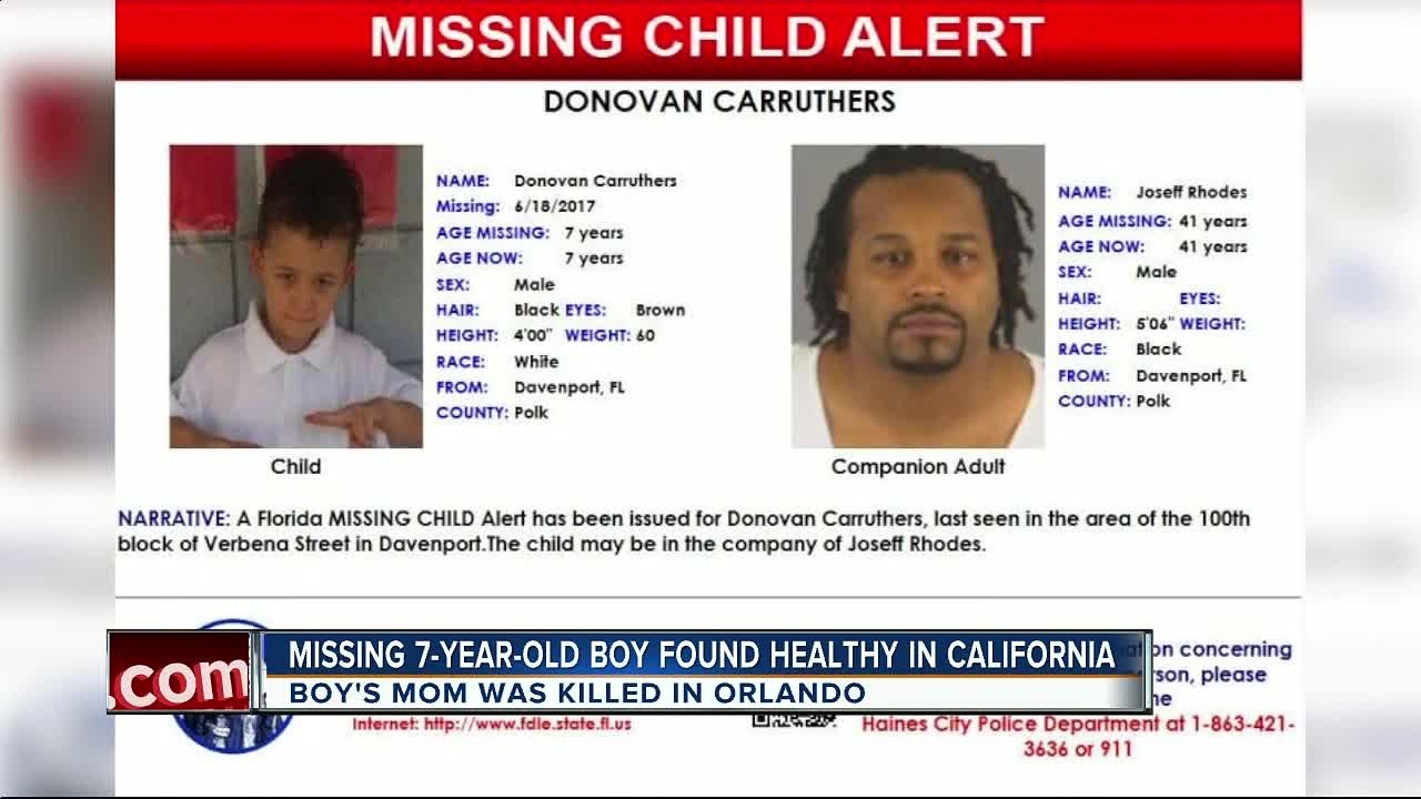 Missing 7-year-old boy from Davenport found safe in California