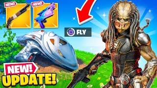 *NEW* PREDATOR UPDATE in Fortnite! (SECRET SKIN, NEW SHOTGUN + MORE)