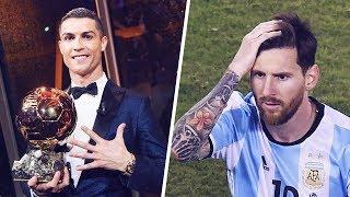Cristiano Ronaldo 5.altın Top Ödülünü Kazandığında Lionel Messi Bu Tepkiyi Verdi.