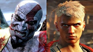 KRATOS vs DANTE Gameplay Fight (Playstation Battle Royale)