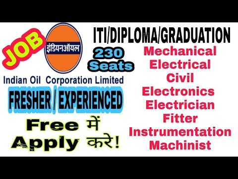 Job Vacancy At Indian Oil Corporation Limited | ITI/DIPLOMA/GRADUATION | Apply For Free |