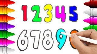 How To Draw Numbers from 9 to 0 | Teaching Colors to Kids with Drawing Numbers from 9 to 0 Video