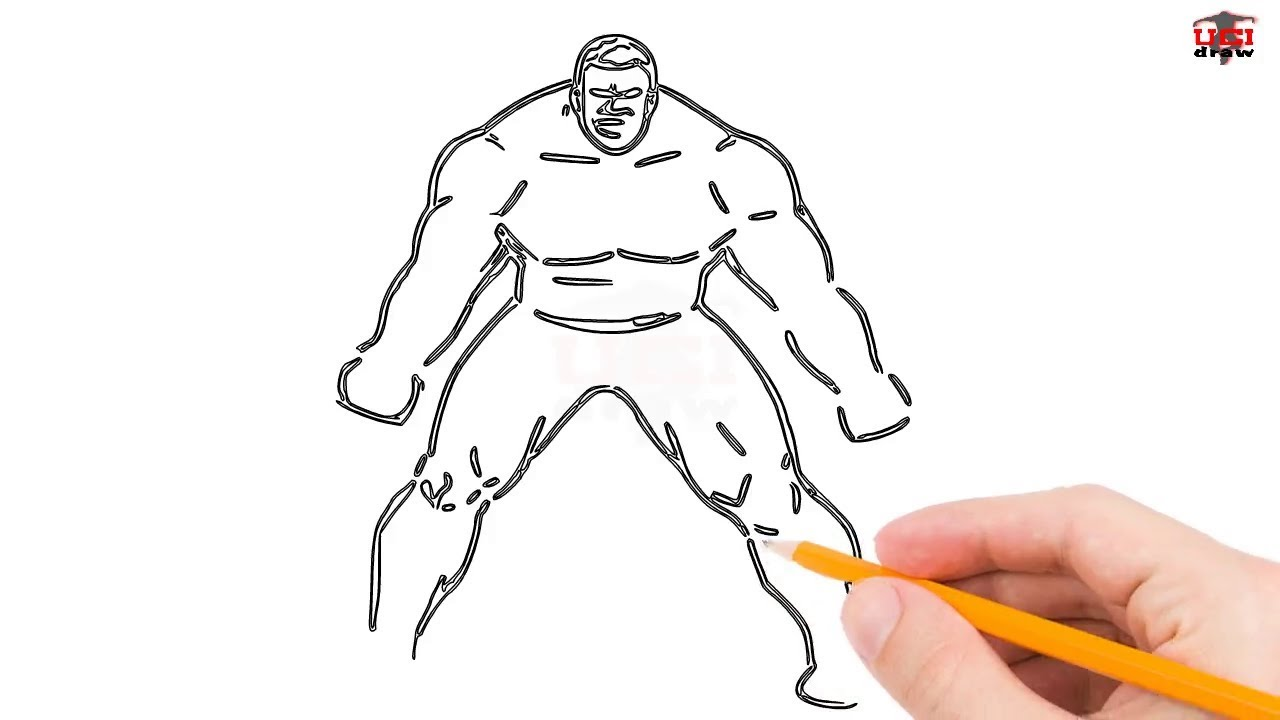 how to draw incredible hulk step by step easy for kidsbeginners simple the hulk drawing tutorial
