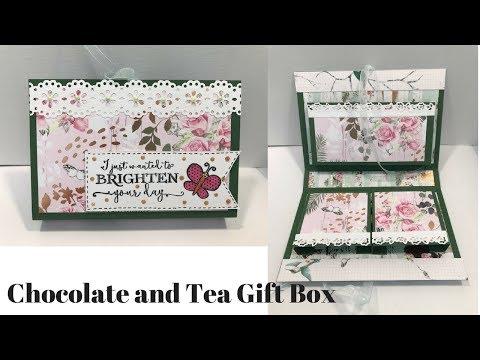 Chocolate and Tea Gift Box Tutorial