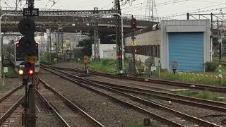 小田急30000形(EXE)はこね50号 新宿行き 海老名駅到着