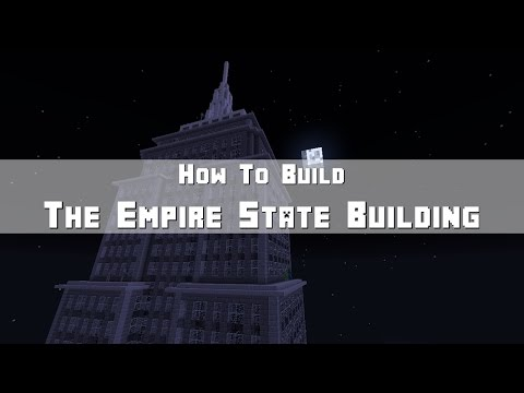 Minecraft: How To Build The Empire State Building (Skyscraper) Part 5 - Top Section