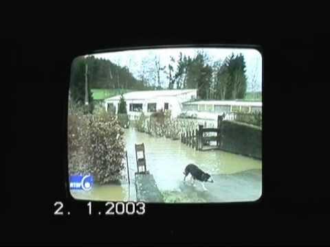 2 JAN 2003 BELGIQUE METEO INONDATIONS RTBF JOURNAL TELE - Filmé de la télé
