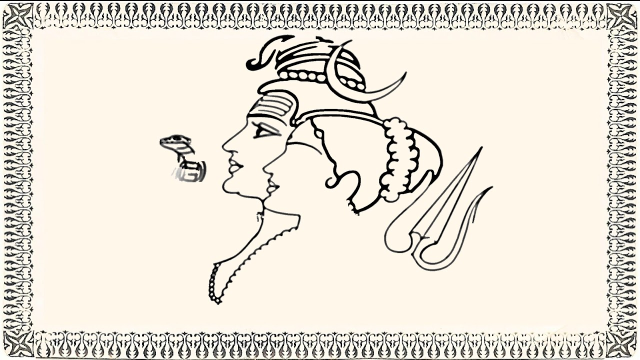 How to draw lord shiva and parvathi