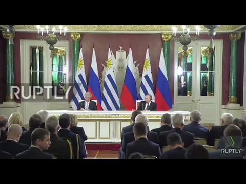 Russia: Putin and Uruguay's Vazquez sign agreements for further cooperation