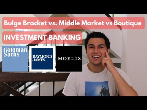 Bulge Bracket vs Middle Market vs Boutique INVESTMENT BANKING