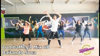 Bailando Soca ZUMBA Mega Mix 60  coreografia Cesar Molina
