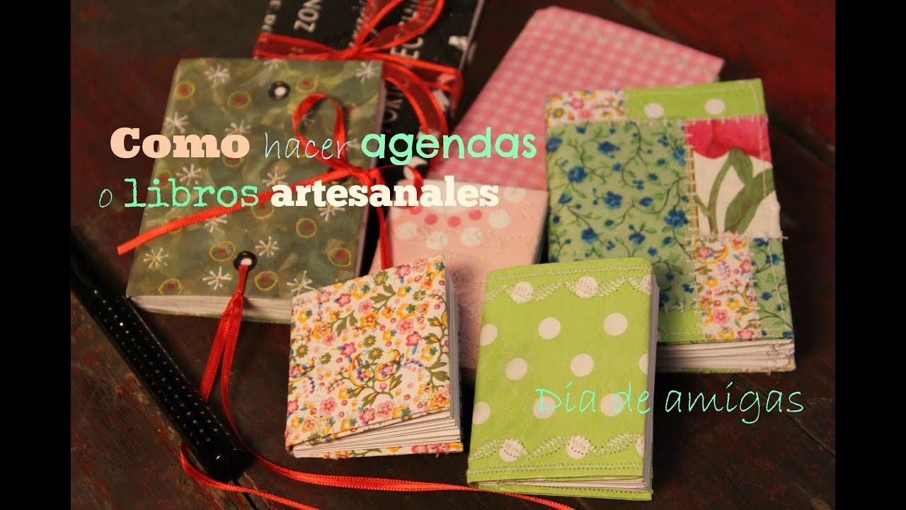 D a de amigas express como hacer agendas o libritos - Como hacer puff artesanales ...