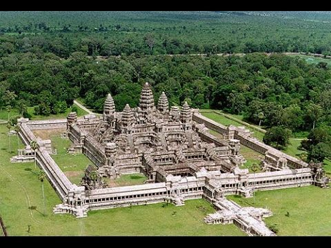 Angkor Wat located here on Google Earth Map