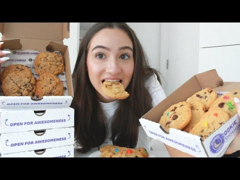 MUKBANG WITH INSOMNIA COOKIES || EAT & CHAT WITH ME || BeautyChickee