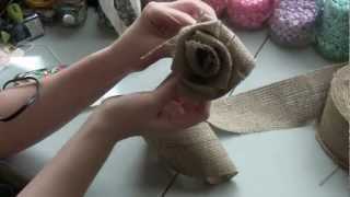 Burlap Rose Tutorial - BurlapFabric.com