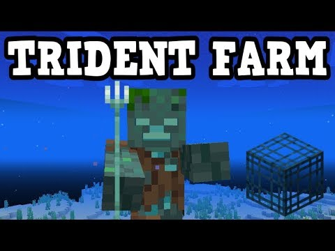 Minecraft - How To Farm Tridents EASILY (Drowned Spawner)